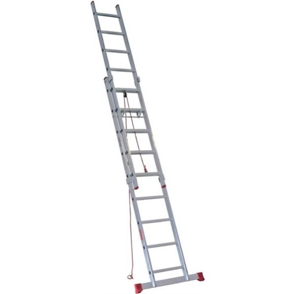 escalera dos tramos con cuerda